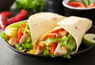 Coco's chicken salad wrap for lunch