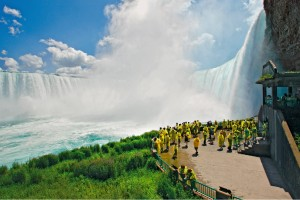 Journey behind the falls tour at Niagara Falls